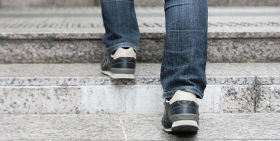 自律神経と肥満、階段